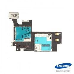 LECTEUR CARTE SIM ET MICO SD SAMSUNG GALAXY NOTE 2 4G N7105 D'ORIGINE