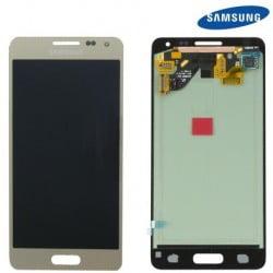 ECRAN LCD + VITRE TACTILE SAMSUNG GALAXY ALPHA G850F D'ORIGINE OR