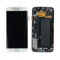 ECRAN LCD + VITRE TACTILE SAMSUNG GALAXY S6 EDGE G925F D'ORIGINE BLANC