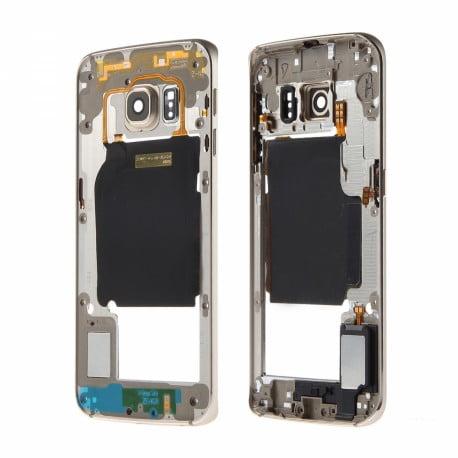 CHASSIS SAMSUNG S6 EDGE G925F GOLD CONTOUR CENTRAL D'ORIGINE
