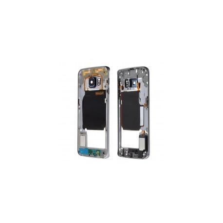CHASSIS SAMSUNG S6 EDGE G925F NOIR CONTOUR CENTRAL D'ORIGINE