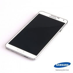 ECRAN LCD + VITRE TACTILE SAMSUNG GALAXY NOTE 2 4G N7105 D'ORIGINE BLANC