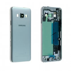 CACHE ARRIERE + CHASSIS CENTRAL SAMSUNG GALAXY A3 A300FU ARGENT D'ORIGINE