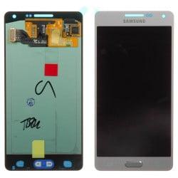 ECRAN SAMSUNG GALAXY A5 A500FU LCD + VITRE TACTILE ARGENT D'ORIGINE