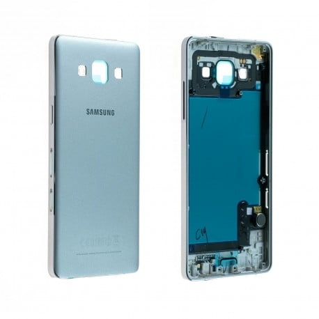 CACHE ARRIERE + CHASSIS CENTRAL SAMSUNG GALAXY A5 A500FU ARGENT D'ORIGINE