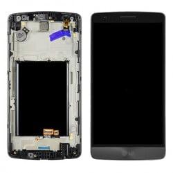 ECRAN LCD + VITRE TACTILE LG G3 MINI D722 GRIS D'ORIGINE