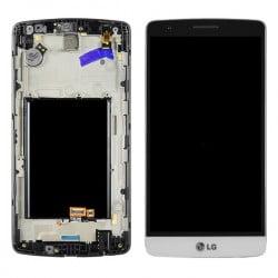 ECRAN LCD + VITRE TACTILE LG G3 MINI D722 BLANC D'ORIGINE