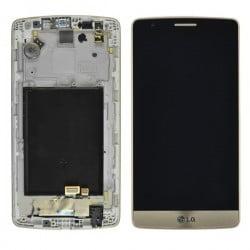 ECRAN LCD + VITRE TACTILE LG G3 MINI D722 GOLD D'ORIGINE
