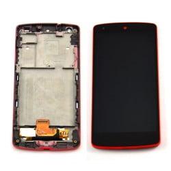 ECRAN LCD + VITRE TACTILE LG NEXUS 5 D820 ROUGE D'ORIGINE