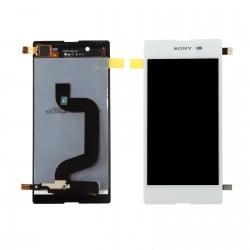 ECRAN LCD + VITRE TACTILE SONY XPERIA E3 D2203 BLANC D'ORIGINE