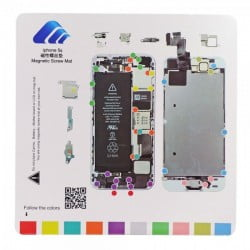 TAPIS DE VIS MAGNETIQUE DE DEMONTAGE POUR IPHONE 5S