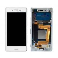 ECRAN LCD + VITRE TACTILE SONY XPERIA M4 AQUA E2353 BLANC D'ORIGINE