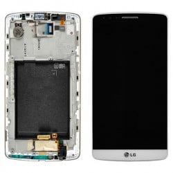 ECRAN LCD + VITRE TACTILE LG G3 D855 ORIGINAL BLANC