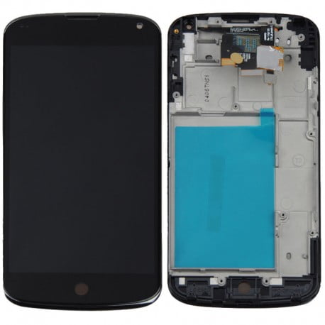 ECRAN LCD + VITRE TACTILE LG NEXUS 4 E960 NOIR D'ORIGINE