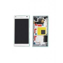 ECRAN LCD + VITRE TACTILE SONY XPERIA Z5 COMPACT E5803 ORIGINAL BLANC