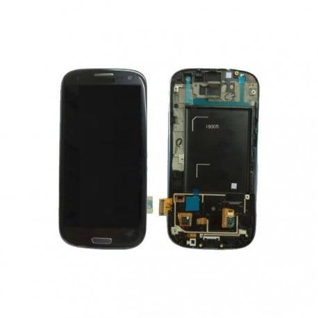 ECRAN LCD + VITRE TACTILE SAMSUNG GALAXY S3 4G I9305 D'ORIGINE NOIR