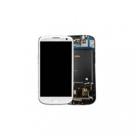 ECRAN LCD + VITRE TACTILE SAMSUNG GALAXY S3 4G I9305 D'ORIGINE BLANC