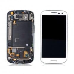ECRAN LCD + VITRE TACTILE SAMSUNG GALAXY S3 I9300 D'ORIGINE BLEU