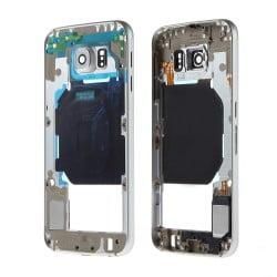 CHASSIS SAMSUNG S6 G920F BLANC CONTOUR CENTRAL D'ORIGINE