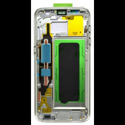 CHASSIS SAMSUNG S7 G930F BLANC CONTOUR CENTRAL D'ORIGINE