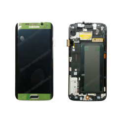 ECRAN LCD + VITRE TACTILE SAMSUNG GALAXY S6 EDGE G925F D'ORIGINE VERT