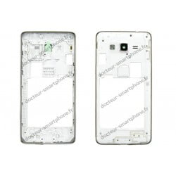 CONTOUR SAMSUNG GALAXY GRAND PRIME - CHASSIS ARRIERE BLANC D'ORIGINE SM-G531F