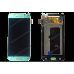 Écran complet Samsung Galaxy S6 bleu d'origine SM-G920F
