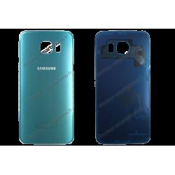Vitre arrière Samsung Galaxy S6 bleu - G920F d'origine