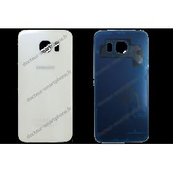 Vitre arrière Samsung Galaxy S6 blanc - G920F d'origine