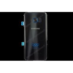 Vitre arrière pour Samsung Galaxy S7 EDGE noir et bleu d'origine - édition limitée