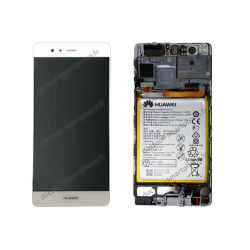 Écran Huawei P9 gris (blanc / argenté ) D'ORIGINE EVA-L09