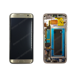 ÉCRAN SAMSUNG GALAXY S7 EDGE OR SM-G935F LCD + VITRE TACTILE OR D'ORIGINE