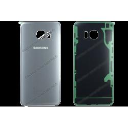Vitre arrière pour Samsung Galaxy S6 EDGE PLUS gris / argent d'origine SM-G928F