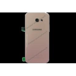 Vitre arrière pour Samsung Galaxy A5 2017 rose d'origine (SM-A520F)