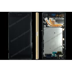 Bloc écran avec contour Sony Xperia Z5 PREMIUM or d'origine E6853
