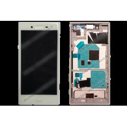 Bloc écran avec châssis pour Sony Xperia X COMPACT blanc d'origine F5321