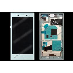 Bloc écran avec châssis pour Sony Xperia X COMPACT bleu pastel d'origine F5321