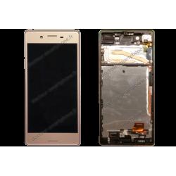 Bloc écran avec contour pour Sony Xperia X rose d'origine F5121