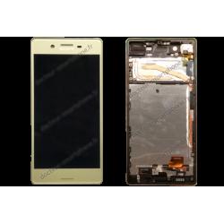 Bloc écran avec contour pour Sony Xperia X or d'origine F5121