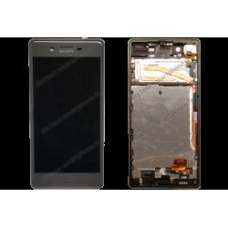 Bloc écran avec châssis pour Sony Xperia X noir d'origine F5121