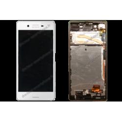 Bloc écran avec châssis pour Sony Xperia X blanc d'origine F5121