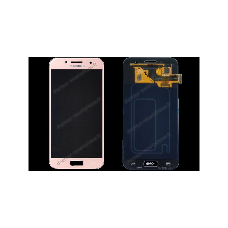 Cran samsung galaxy a3 2017 rose original sm a320f for Photo ecran galaxy a3