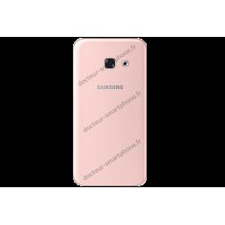 Vitre arrière d'origine Samsung pour Galaxy A3 2017 rose - A320F
