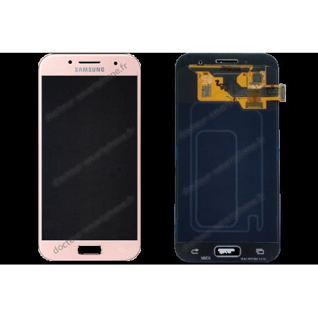 Écran complet avec LCD Samsung Galaxy A5 2017 rose d'origine SM-A520F