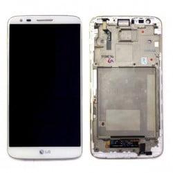ECRAN LCD + VITRE TACTILE LG G2 D802 ORIGINAL BLANC