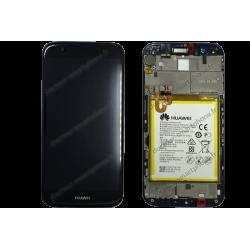 Écran complet avec LCD vitre et châssis Huawei G8 noir original