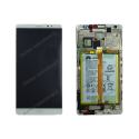 Écran LCD, vitre tactile et batterie pour Huawei MATE 8 blanc d'origine