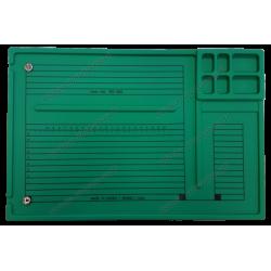 Tapis pour réparation et soudure antistatique avec compartiment - vert