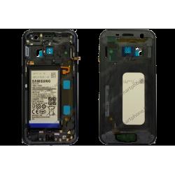 Châssis Samsung Galaxy A3 2017 noir d'origine SM-A320F