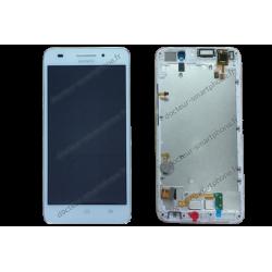 Écran Huawei ASCEND G620S blanc d'origine